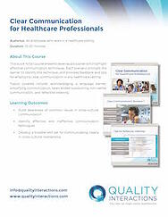 Clear Communication for Healthcare Professionals