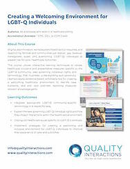 Creating a Welcoming Environment for LGBTQ Individuals