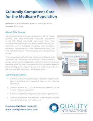 Culturally Competent Care for the Medicare Population