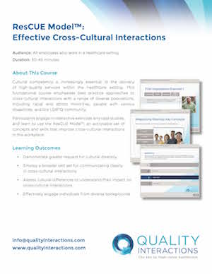 ResCUE Model™: Effective Cross-Cultural Interactions