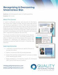 Recognizing & Overcoming Unconscious Bias